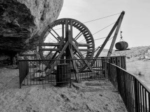 La Roque Saint Christophe treadmill winch
