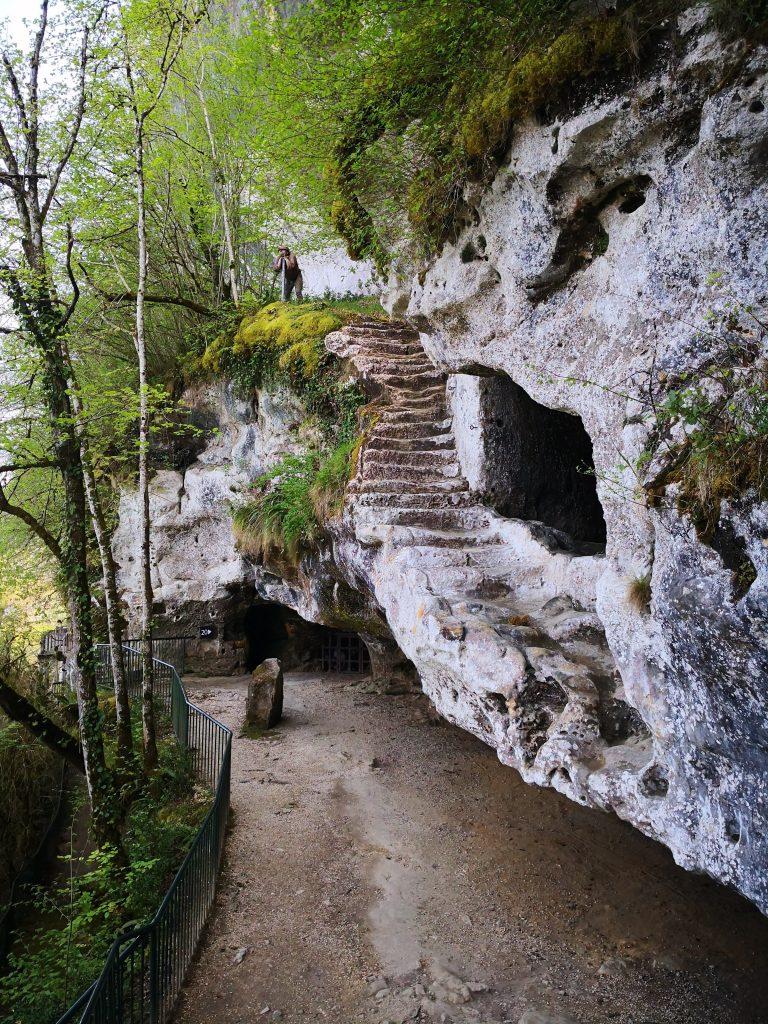 La Roque Saint Christophe stairway