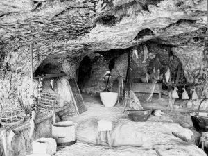 La Roque Saint Christophe early kitchen